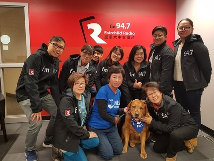 Clifford, pet ambassador from PALS, visited Fairchild Radio Calgary and has won over some human fans.