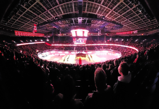 A Calgary Hitmen game draws another 10,000 to the Saddledome. Photo: Brian Wong Calgary