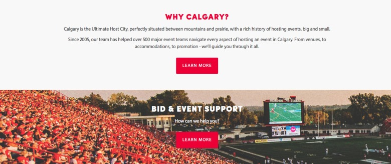Sports & Culture is a major pillar to promote Calgary. Photo: Tourism Calgary